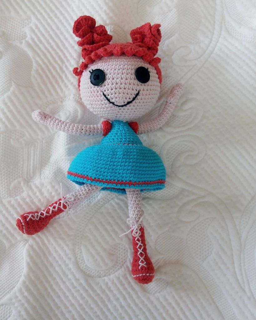 Lalaloopsy Crochet Tutorial Pt. 1 - YouTube | 1024x819