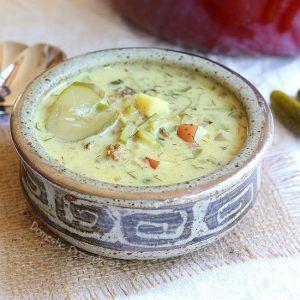 Cream of Dill Pickle Soup - Domestic Dreamboat