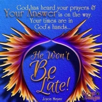 MT @Peace2you44: God has heard your prayers & your answer is on the way.  #RenewUS #PJNET