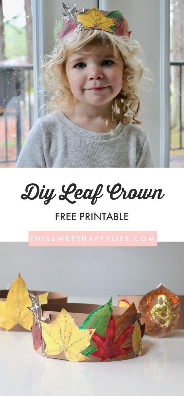 DIY Leaf Crowns #leafcrafts