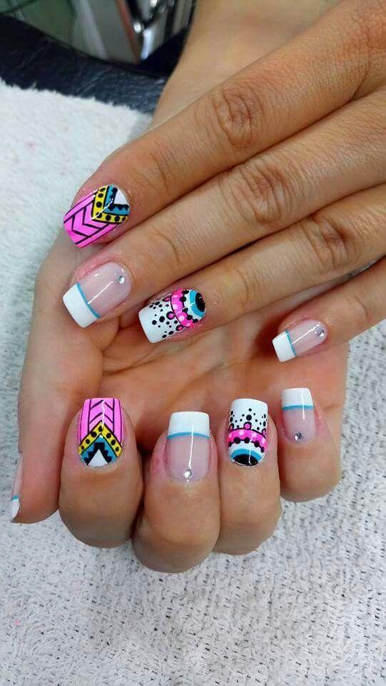 Uñas atrevidas #uñasesculpidas | Diseños de uñas, Uñas ...