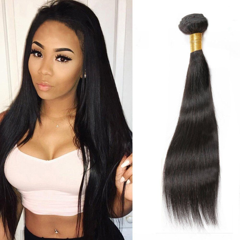 7a grade brazilian virgin hair straight alimice hair 6-30