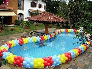 Festa piscina festa na piscina pool party pinterest for Piscina party