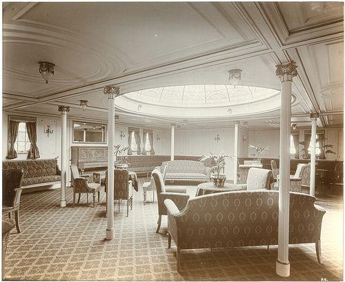 Lovely interior of the Lusitania