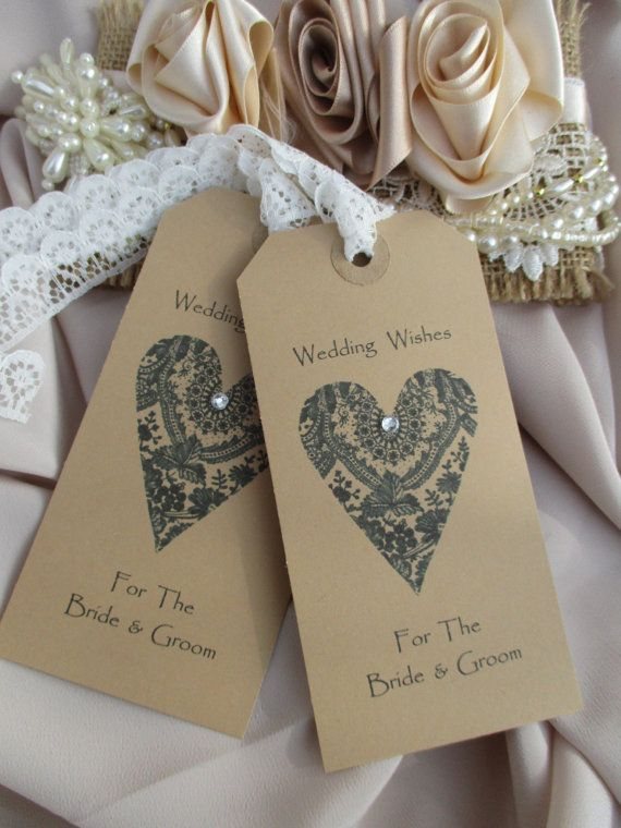 Wedding Wishes For The Bride Groom Lace Heart By TheIvoryBow