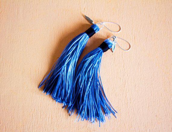 Tie Dye Mini Our smallest fringe tassel earrings in by milajewelry, $35.00