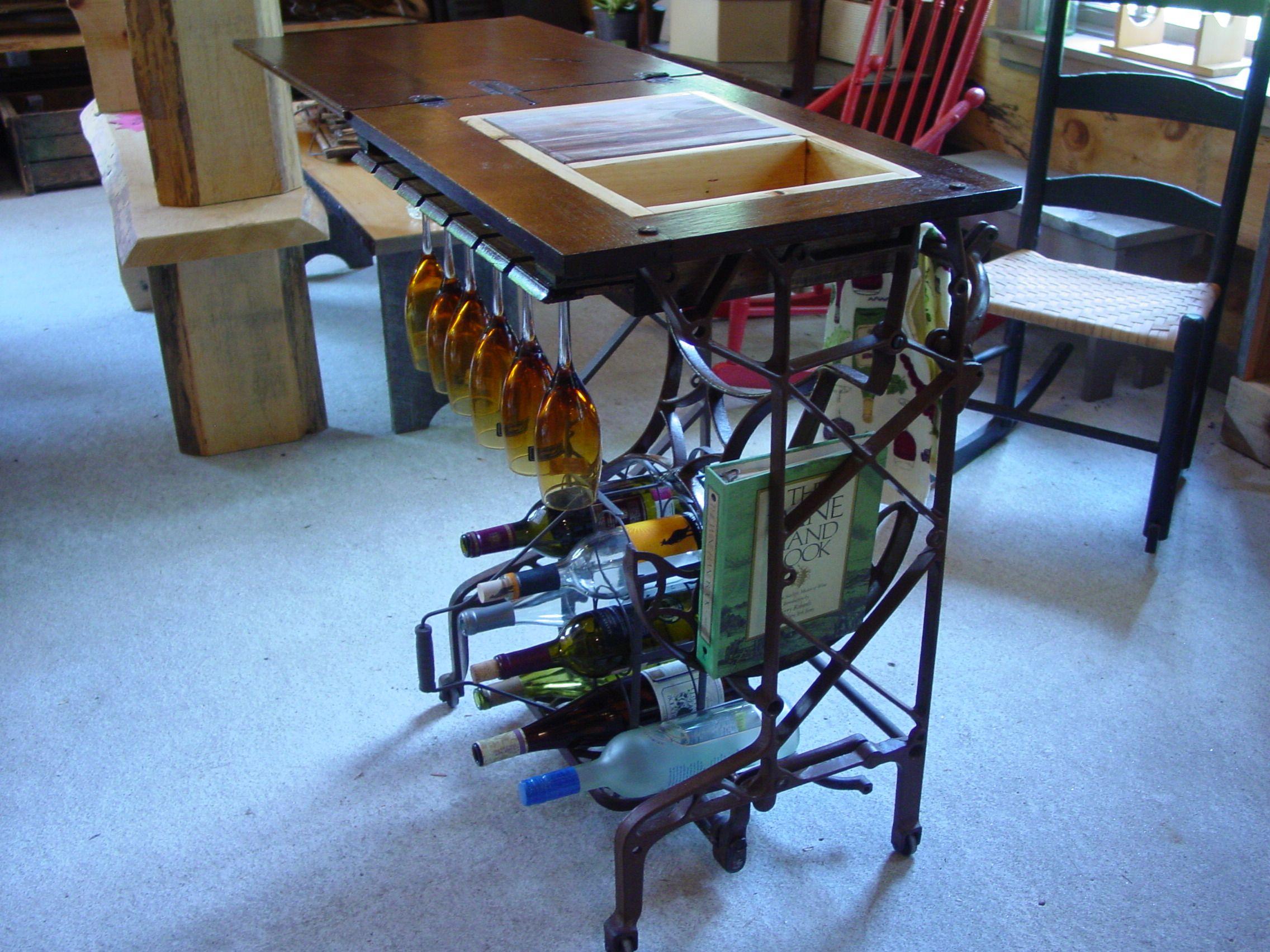 treadle sewing machine base ideas