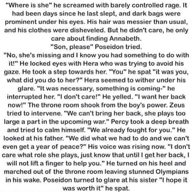 If Annabeth was taken by Hera instead of Percy | Percy