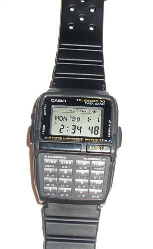 retro casio dbc 30 data bank telememo 30 calculator watch gray case rh pinterest com Casio Telememo 30 Setting casio illuminator telememo 30 user manual