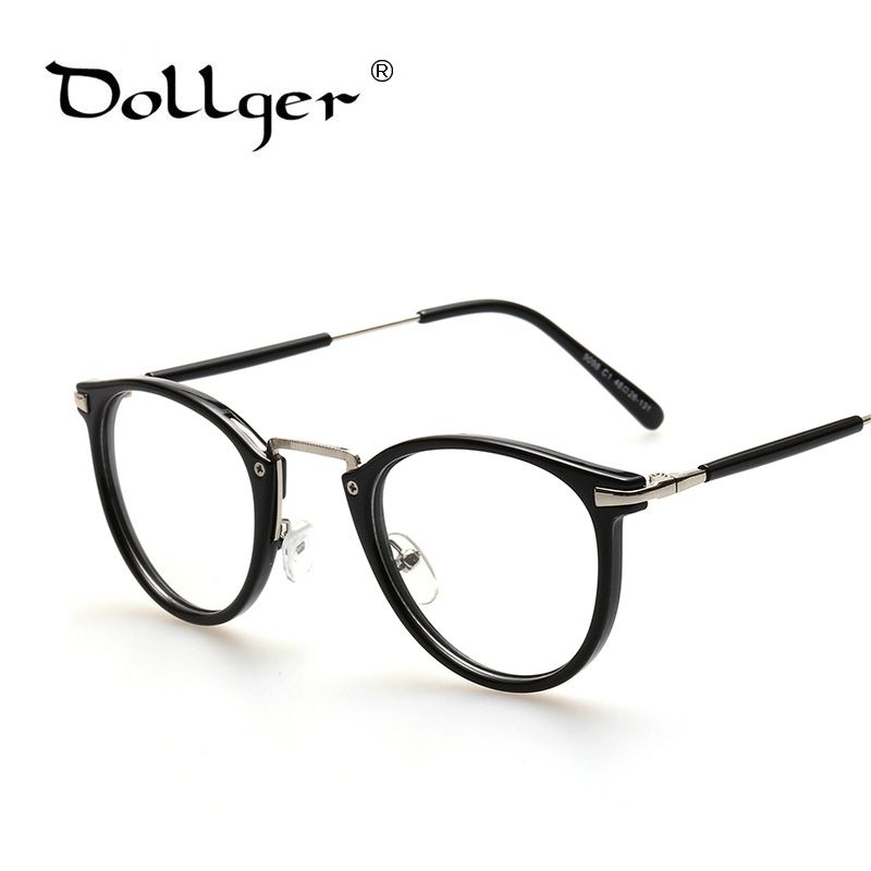 c381dcdfc2 Dollger Glasses Frame Retro Full Rim Gold Eyeglass Frame Vintage Spectacles  Round Computer Glasses Unisex NO Degrees s1274