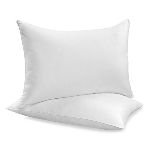 2Pack Hypoallergenic DownAlternative Bed Pillows Standard Size