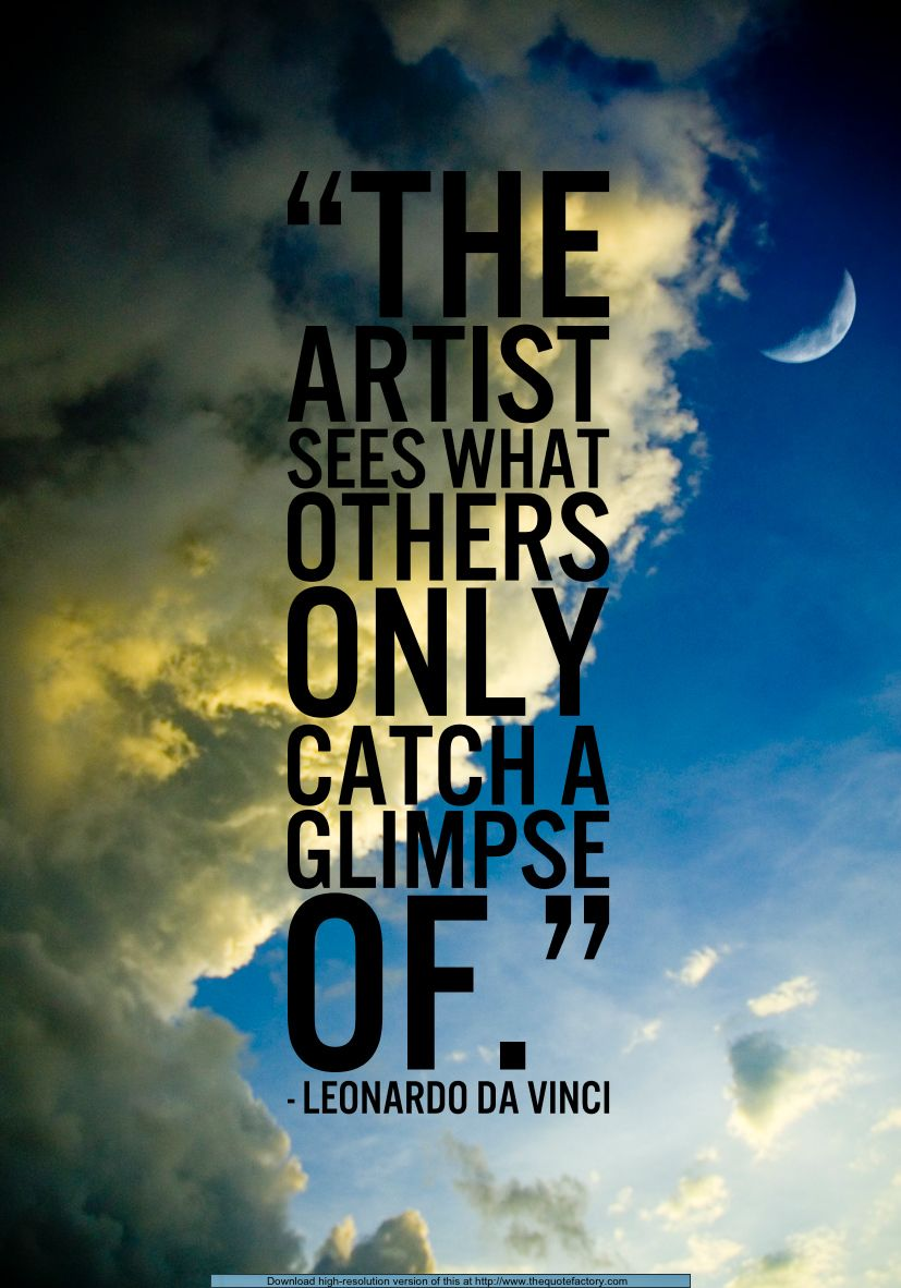 Da Vinci Quote Referring Artist' Perspective Of