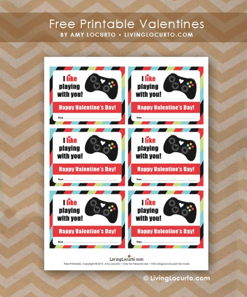 graphic regarding Printable Video named Online video Video game Valentine Printables Valentines Working day