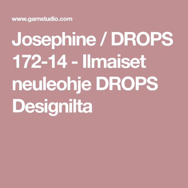Josephine / DROPS 172-14 - Ilmaiset neuleohje DROPS Designilta