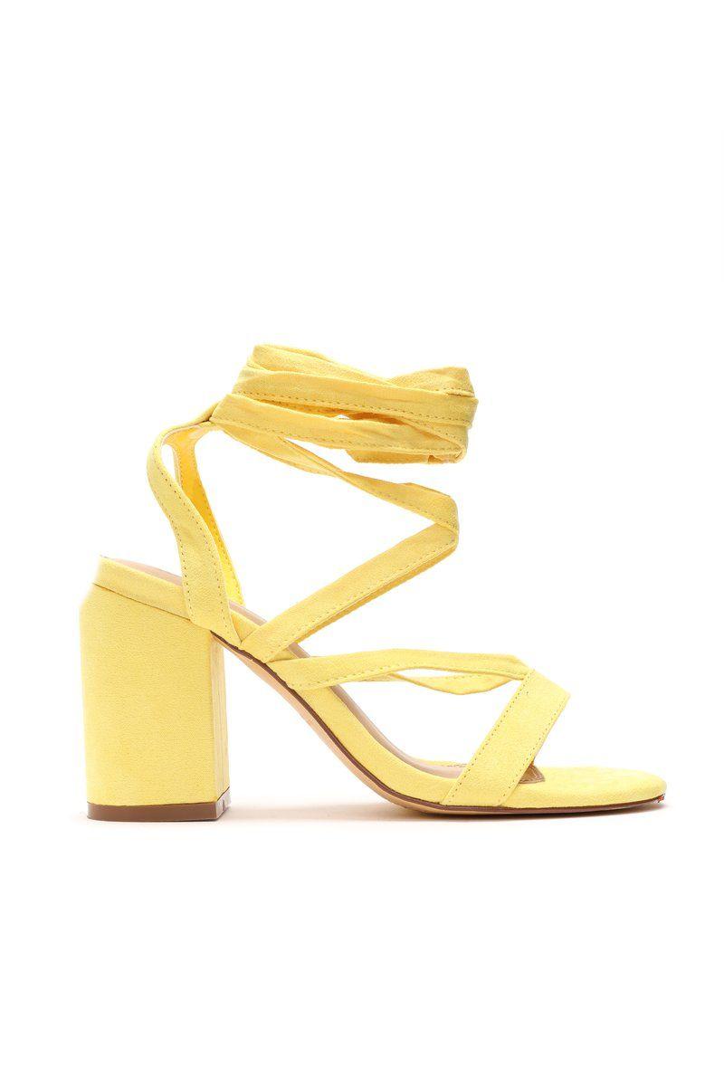 a41d3de8c07e That Tie Up Heel - Yellow