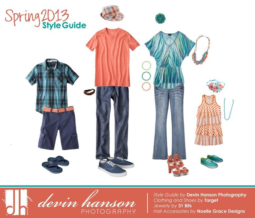 Family Photo Outfit Ideas From Devin Hanson Photography Spring Coral And Turquoise