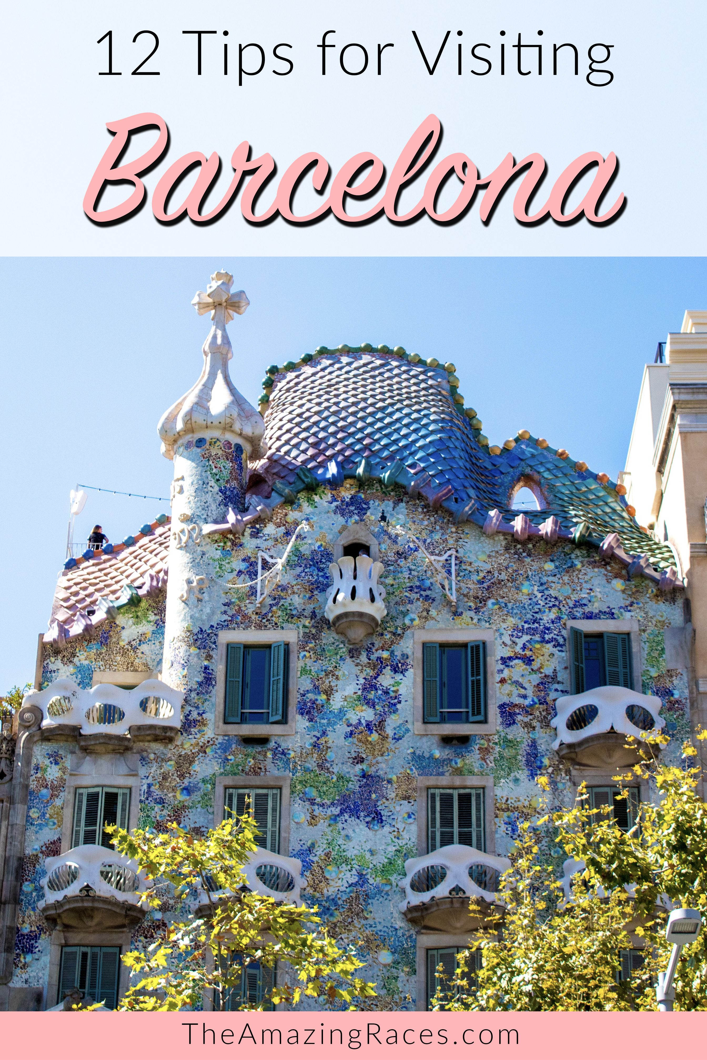 12 travel tips to help you save money in Barcelona and make your trip more enjoyable. Are you visiting Barcelona in the future? Save this pin to your travel board! #barcelona #spain #barcelonatips #traveltips