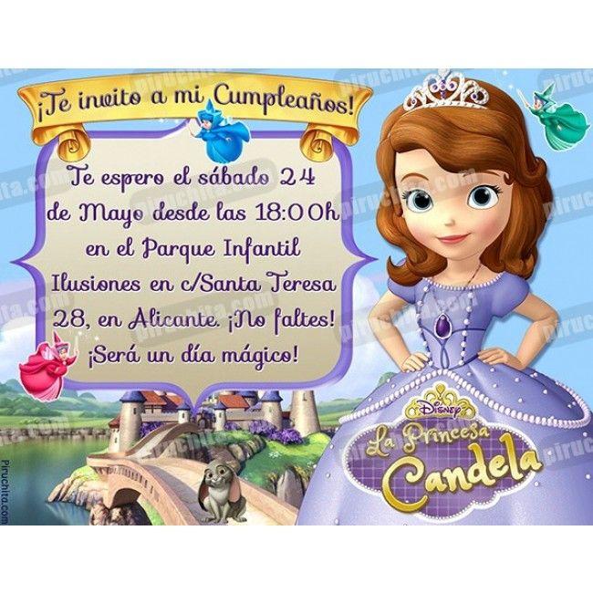 Invitacion Para Fiesta De Princesas Buscar Con Google