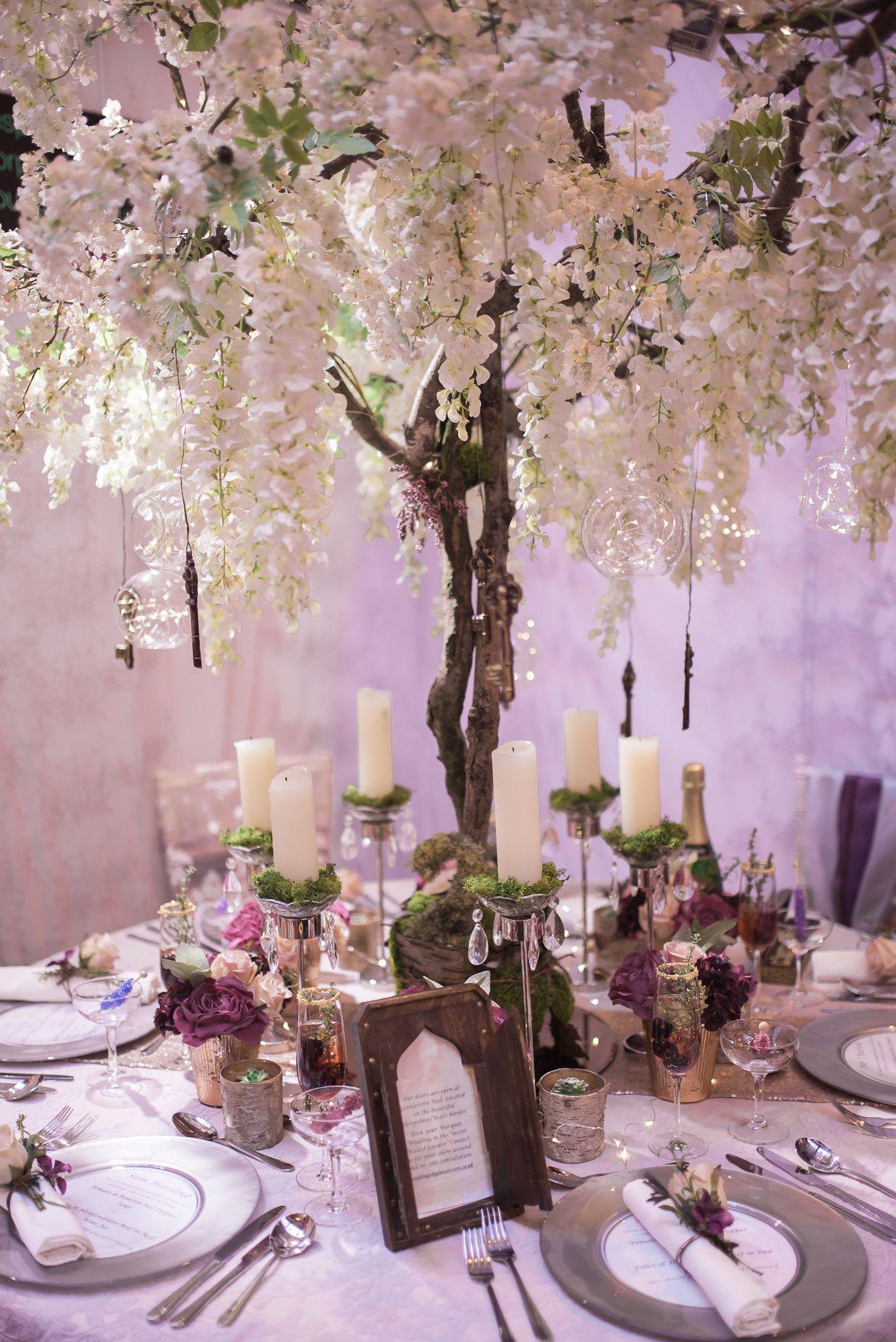 Bespoke Venue Wedding Stylists Blossom Trees For Hire Decoration Shropshire West