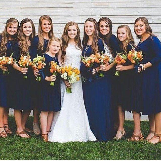 Joy With All Her Bridemaids Duggar Wedding Joy Anna Duggar Wedding Joy Duggar Wedding