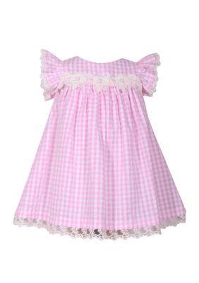 52b82fdaafc Bonnie Jean Girls' Toddler Girls Pink Checked Seersucker Float Dress - Pink  - 2T