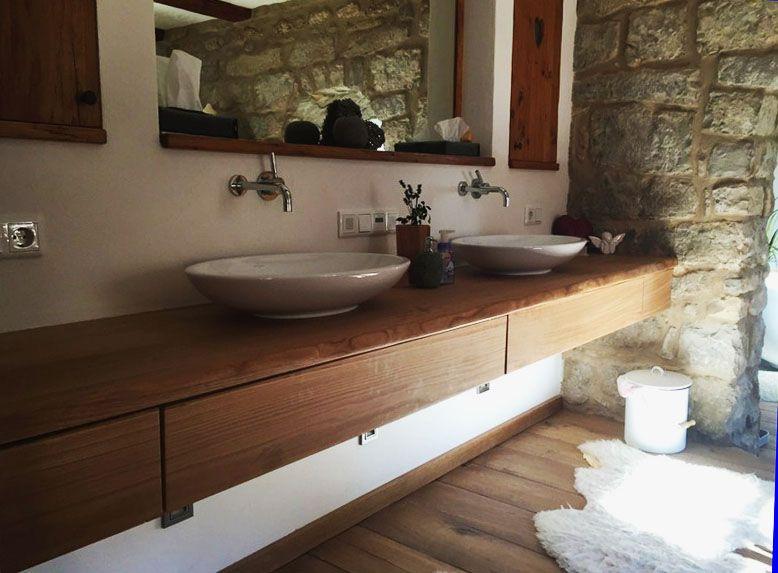 waschtisch aus eiche mit schubkasten waschtische aus holz pinterest schubkasten. Black Bedroom Furniture Sets. Home Design Ideas