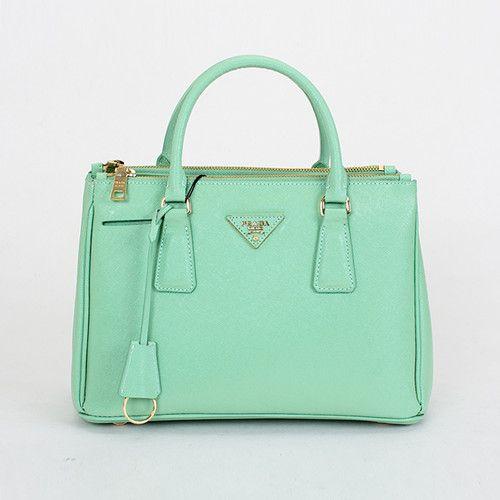2017 Prada Saffiano Leather Lux Tote Bag Bn1801 Green Handbags
