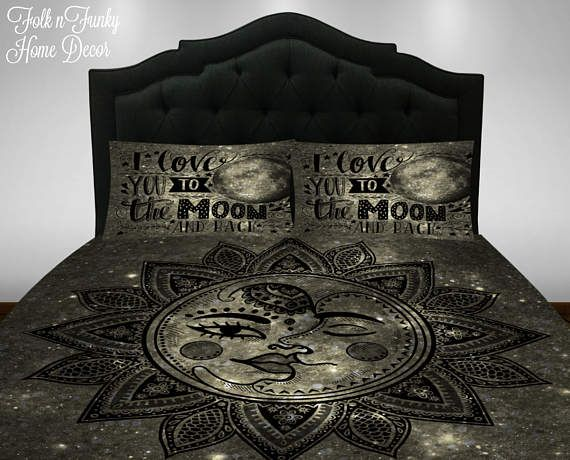 Home & Garden Gentle 3pcs Bedding Set For Twin Full Queen King Bed Blue Sea Moon Printed Duvet Covers Cotton Blend Bed Linen Pillow Case Bedding Kit
