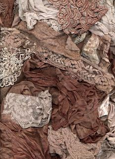 Boil avocado skins to make a beautiful vintage dusty rose colored dye for fabrics, lace, paper...etc.   Who knew?!