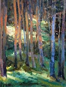 Light Path by Mary Maxam Oil ~ 16 x 12