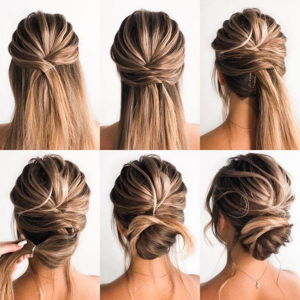 Charmante Frühling Braut-Hochsteckfrisur Tutorials Für Langes Haar