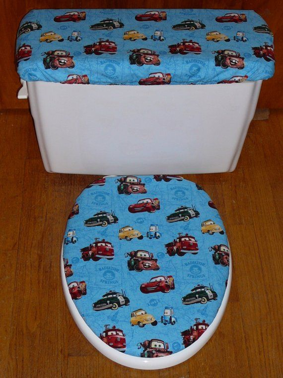 CARS DISNEY TOILET SEAT AND TANK LID COVER