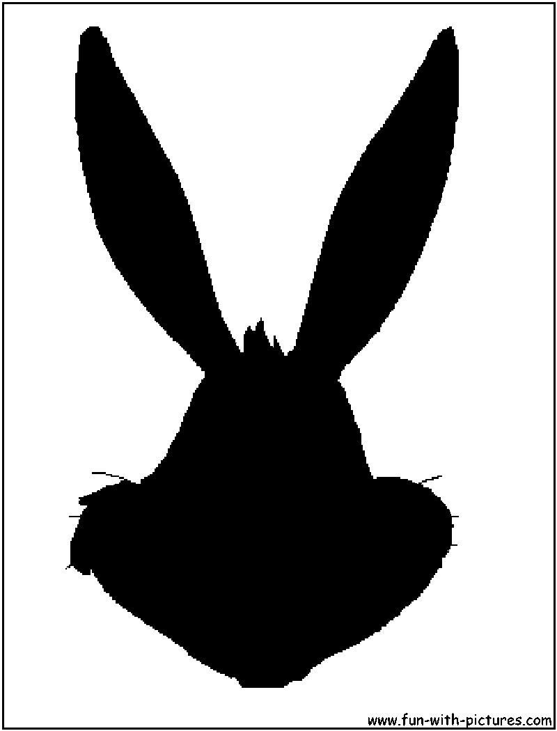 Bugsbunny Face Silhouette Silhouette Face Craft Projects