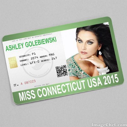 Ashley Golebiewski Miss Connecticut USA 2015 card | ID Card ...
