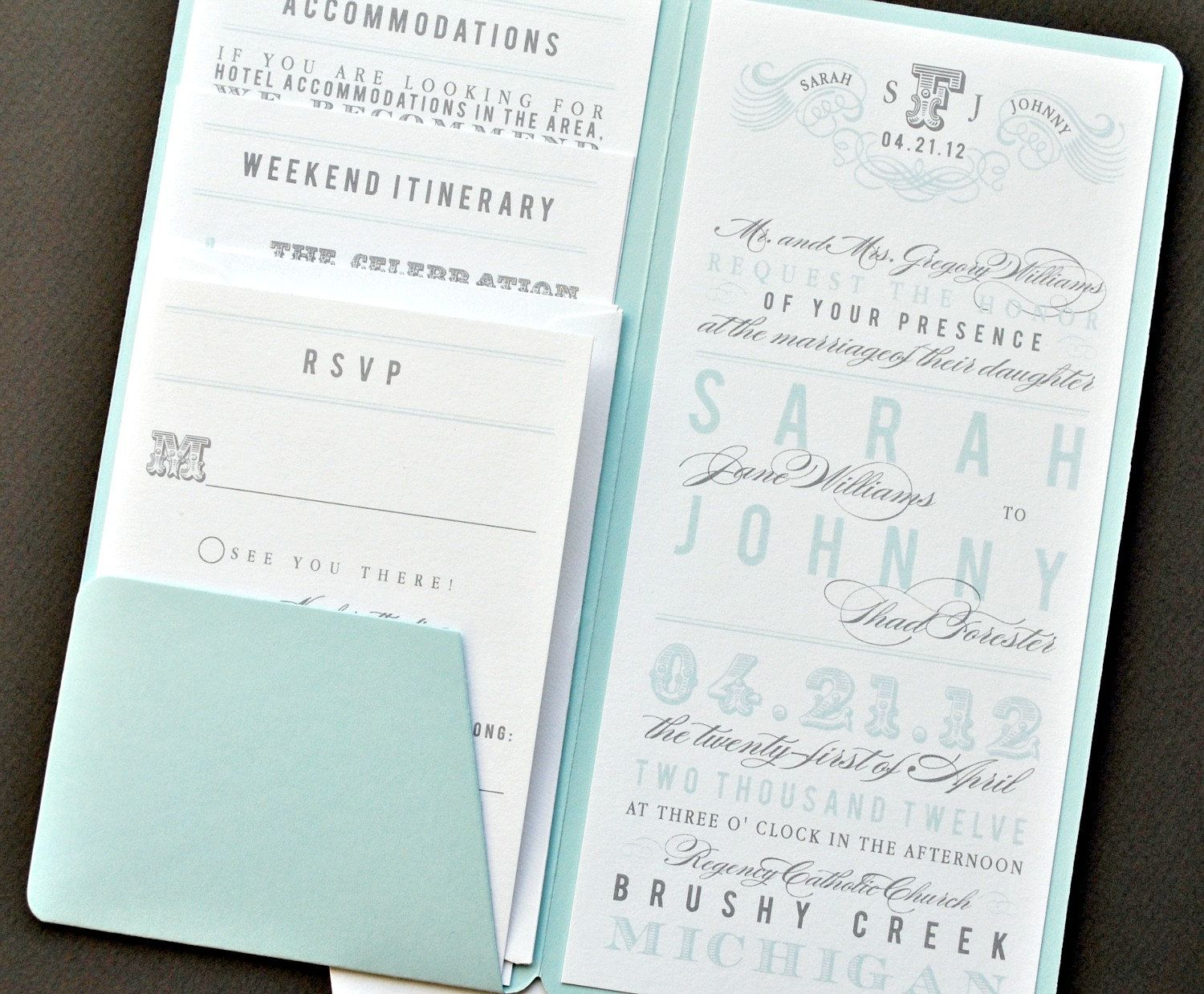 As Seen on Style Me Pretty - Chloe Pocket Wedding Invitation Suite ...