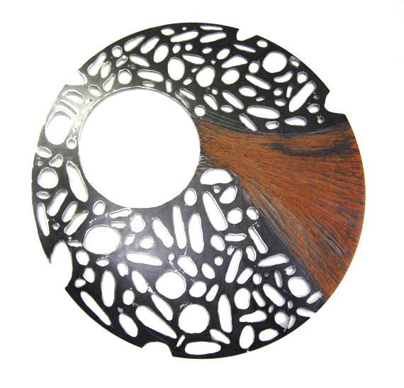 metal abstract wall art - Large metal sculpture - round steel ...
