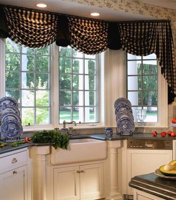 Kitchen Curtain Ideas  Home  Pinterest  Curtain Ideas Kitchen Glamorous Window Treatment Ideas For Kitchen Decorating Design