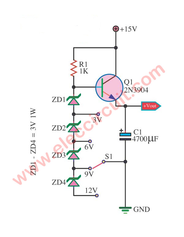3 Multi Voltage Power Supply Circuit Electronics Projects Circuits In 2020 Power Supply Circuit Electronics Projects For Beginners Power Supply