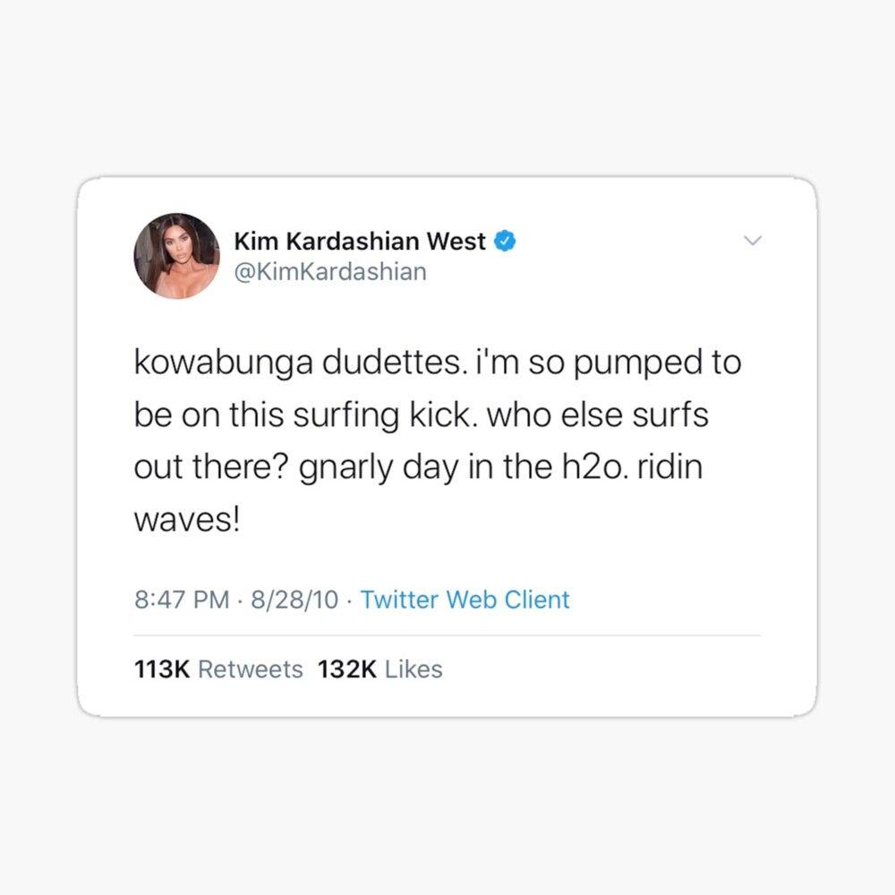 Kim Kardashian Tweet Sticker Kim Kardashian Kardashian Sticker Design