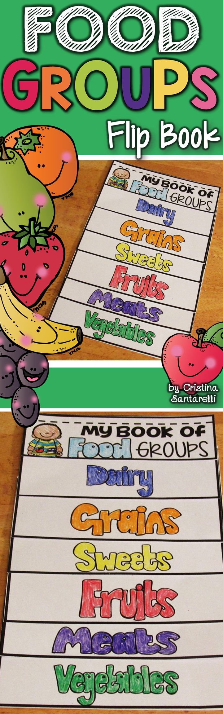 Food groups flip book group meals books the chocolate