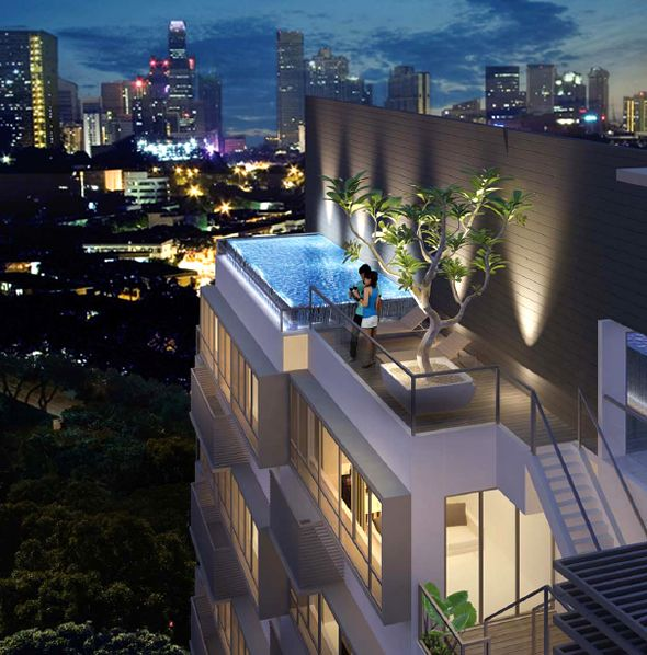 Modern Luxury Interior Design Residential Singapore Property Bliss Loft Outdoor Roof Swimming Pool Architectuur Gebouwen Huisjes