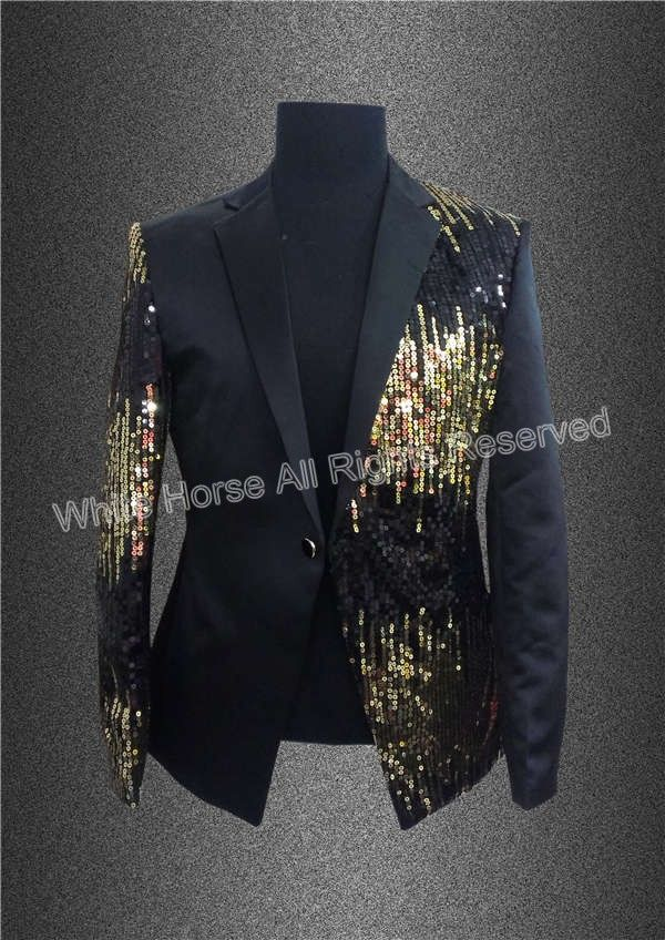 Pin by Roger Qin on Men's stage wear | Pinterest | Gold blazer ...