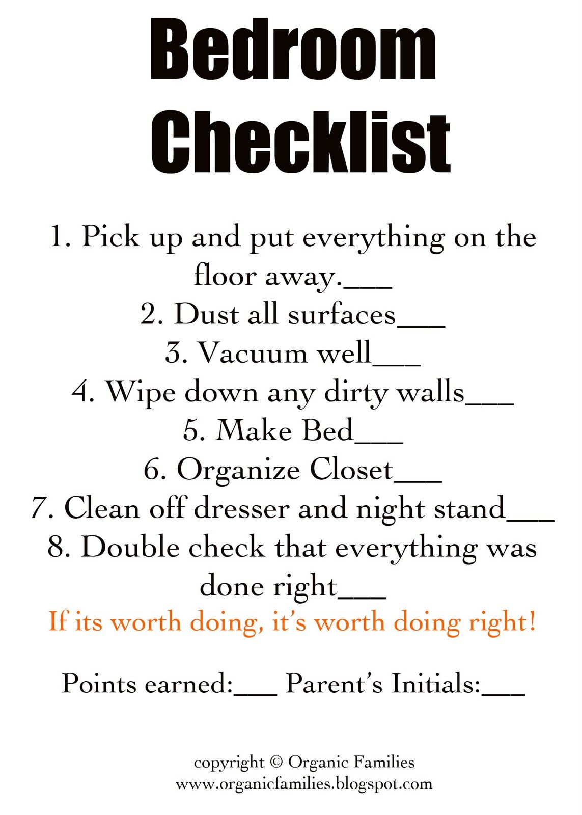 How do I stay organized? Let me count the ways... Chore