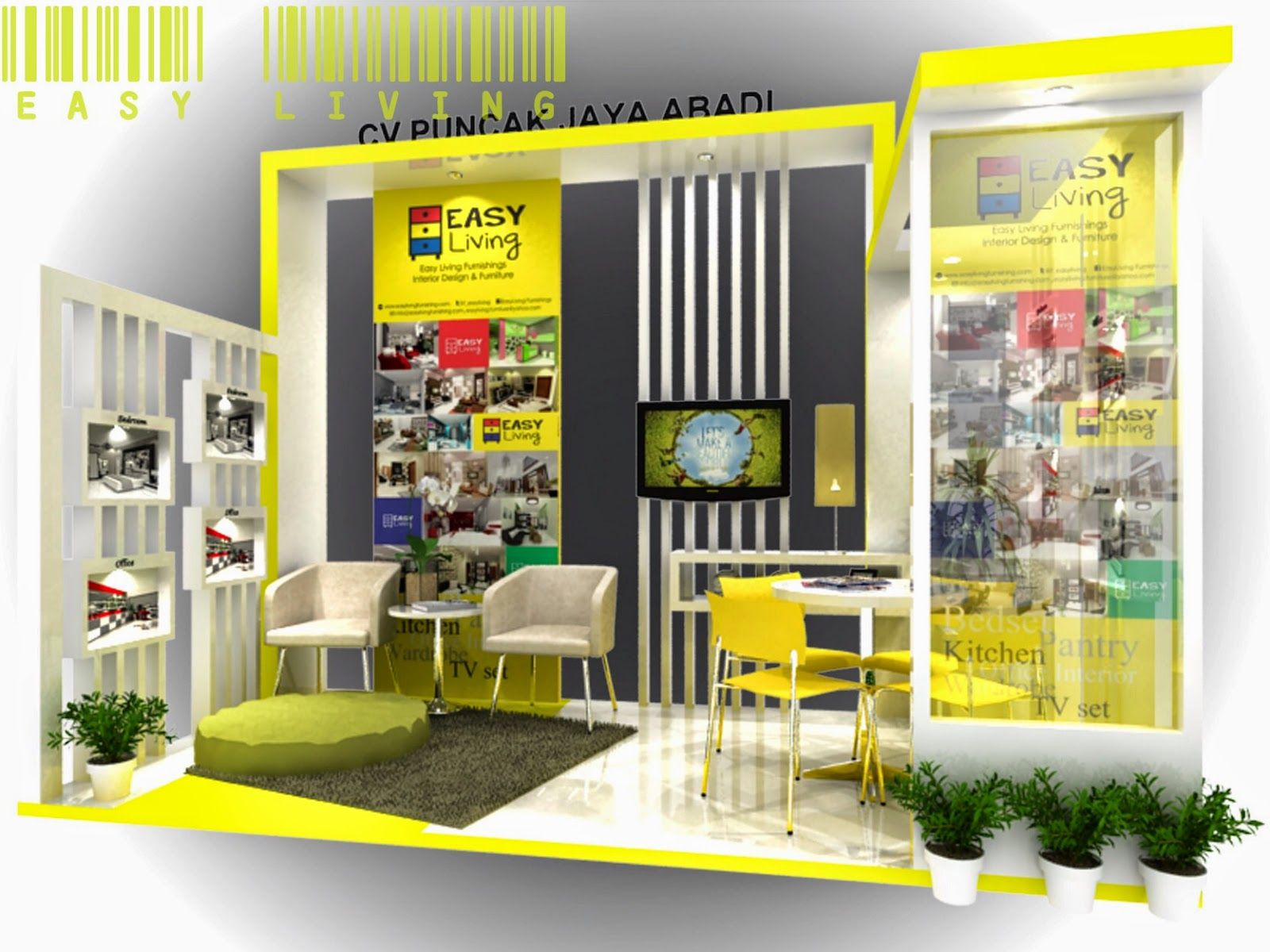 Easy Living Indonesia Desain Booth Pameran Easy Living Indonesia Inter Interior Desain Interior Desain Furnitur