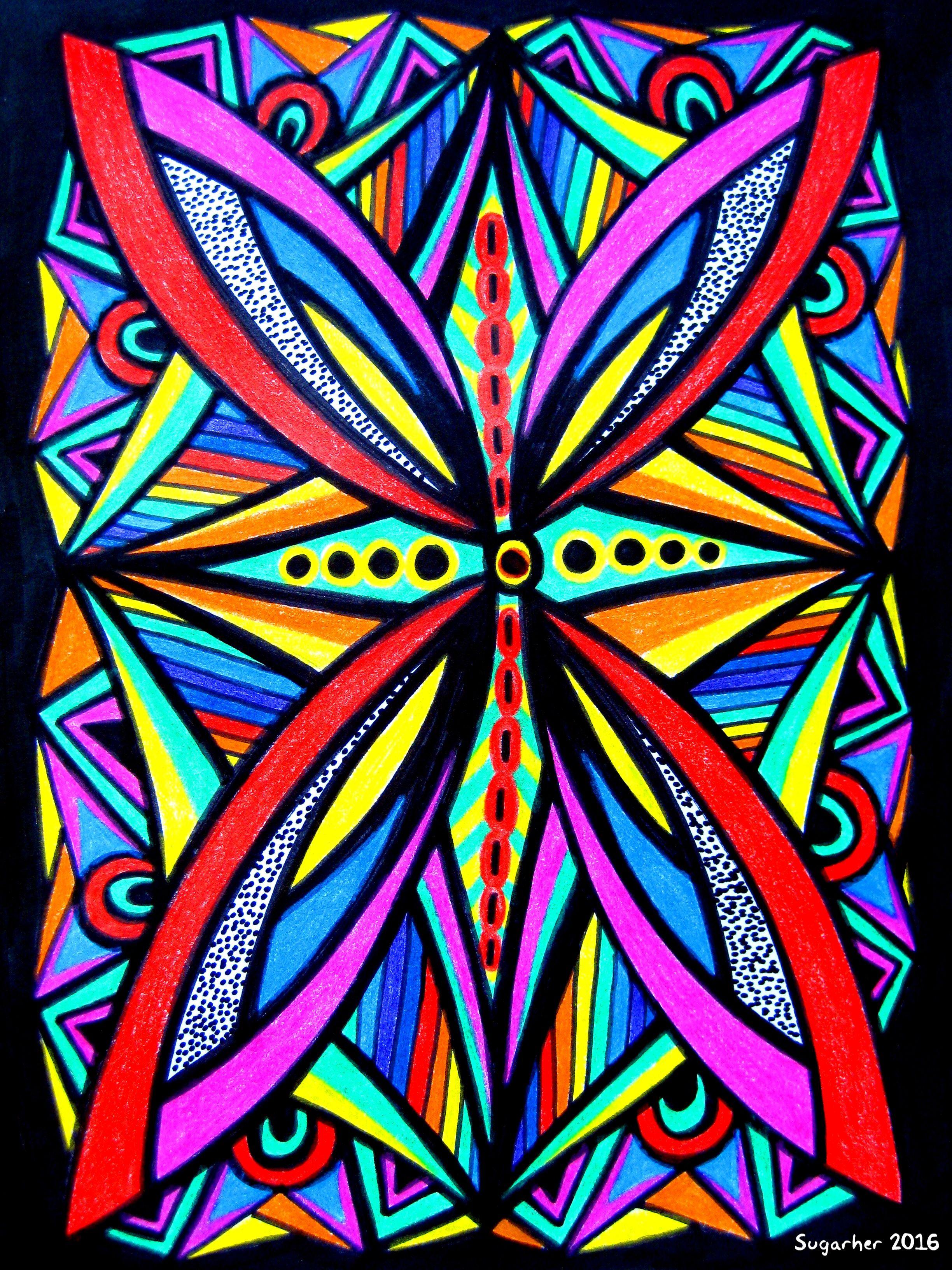 dibujos  rotulador y  pinturas de  colores  alpino