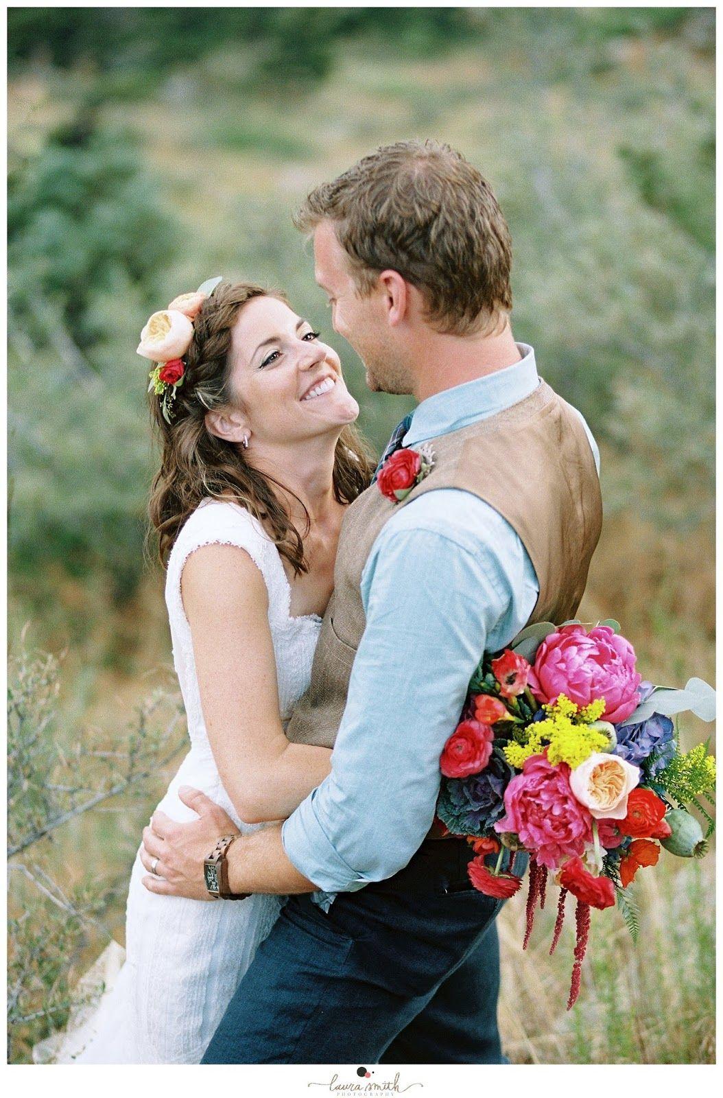 Laura Smith Photography: Colorado Wedding Photographer, bridal poses, bride and groom posing, peonies, bouquet, details, shoes, film, Kodak Portra 160, www.laurasmithphotos.com