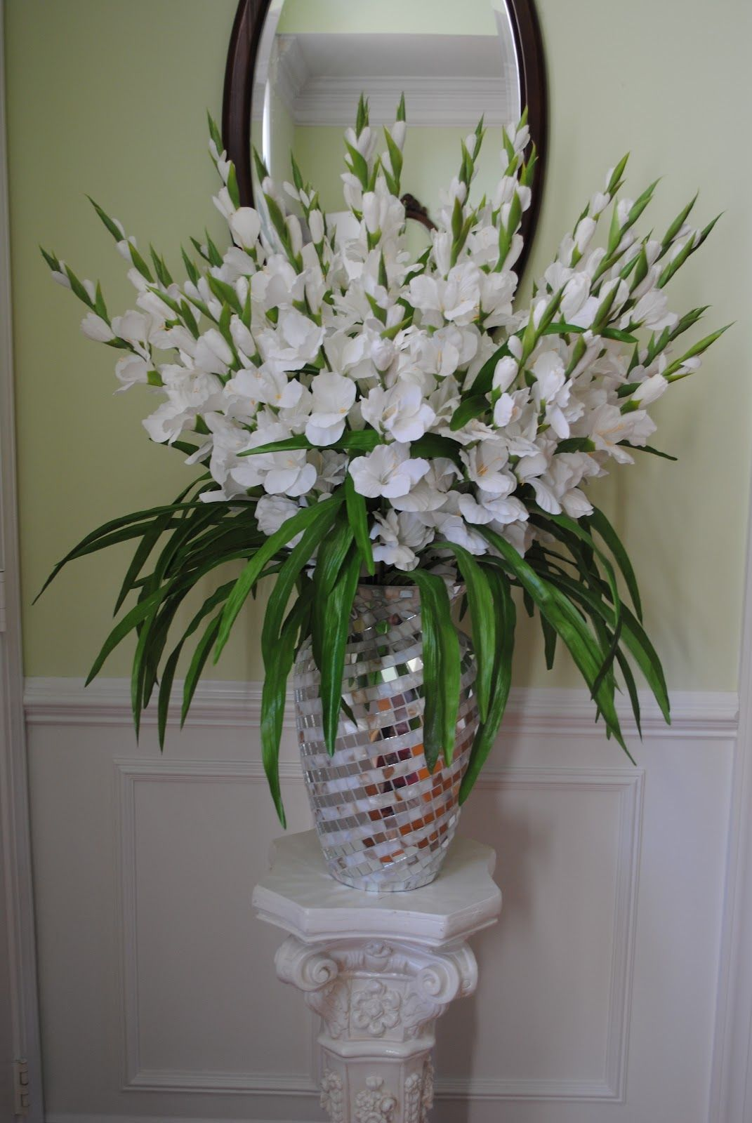 Christmas Holiday Ideas Snow White Silk Gladiolus Large Flower Arrangements Fresh Flowers Arrangements Church Flower Arrangements