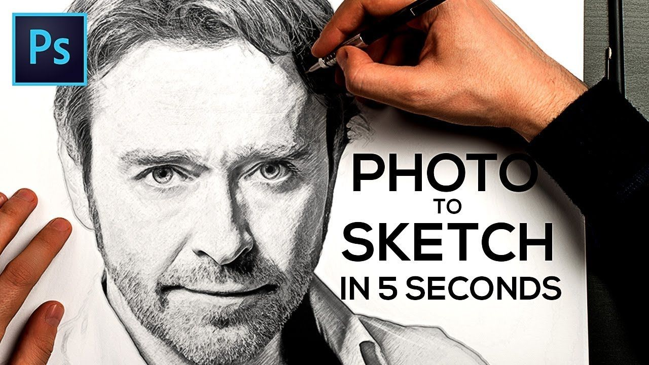 How to Turn a Photo into Pencil Drawing Sketch Effect in