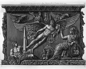Pedestal of the same relief (two branches) - Giovanni Battista Piranesi