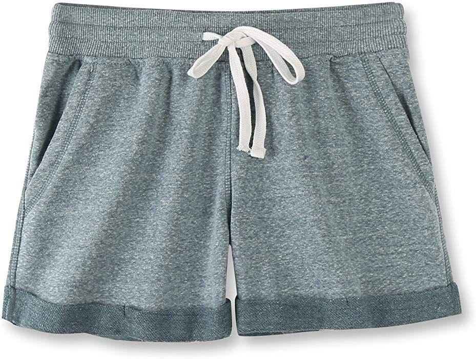 a9a24a23b04 Vetemin Women s Juniors Cotton Stretch Activewear Lounge Shorts Green  Melange M at Amazon Women s Clothing store